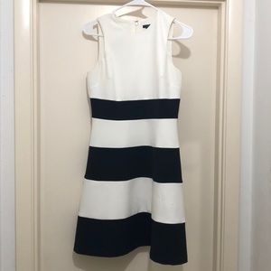 black and white dress from Ann Taylor